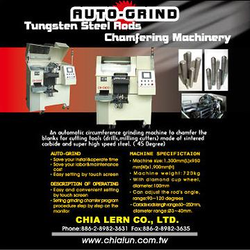 Auto. Tungsten Steel Rods Chamfering Machinery