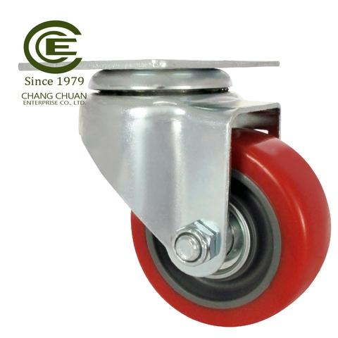 3 Inch Rubber Castors Pipe Stem Caster with Brake