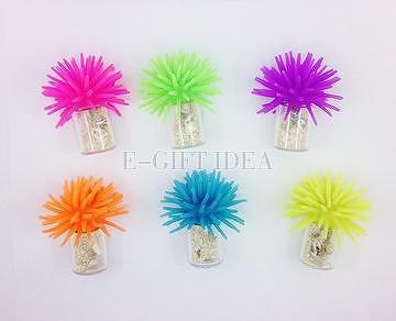 Fluffy Seashell Bottle Fridge Magnet