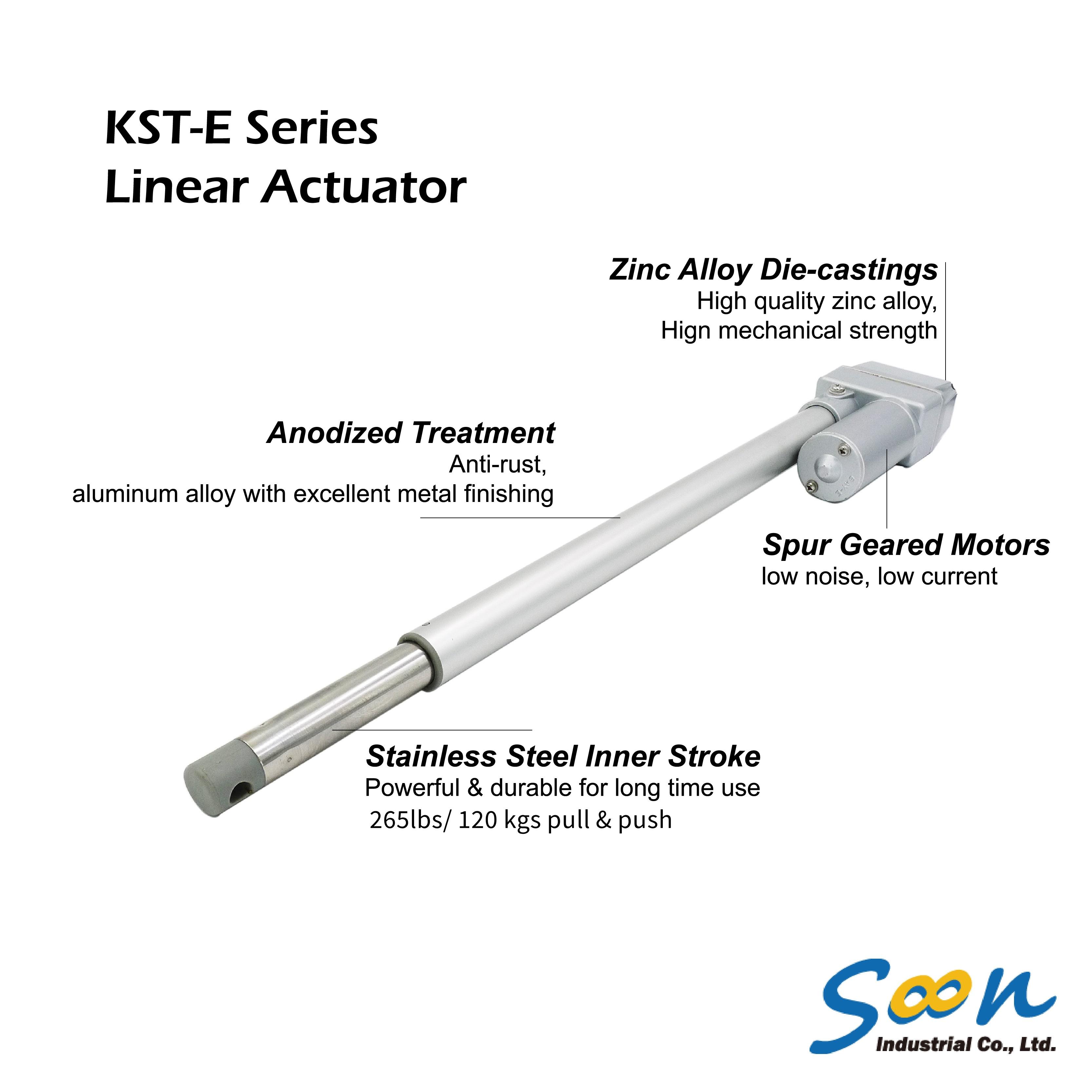 Taiwan KST-E01 Linear Actuator Stroke length from 2
