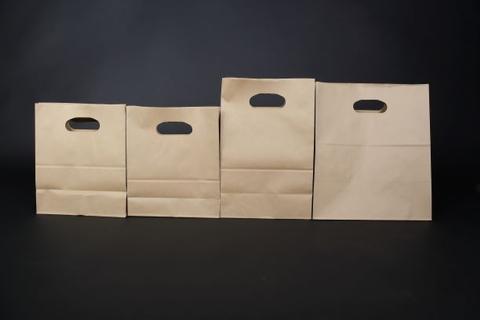 Kraft Paper Die cut Handle Bag