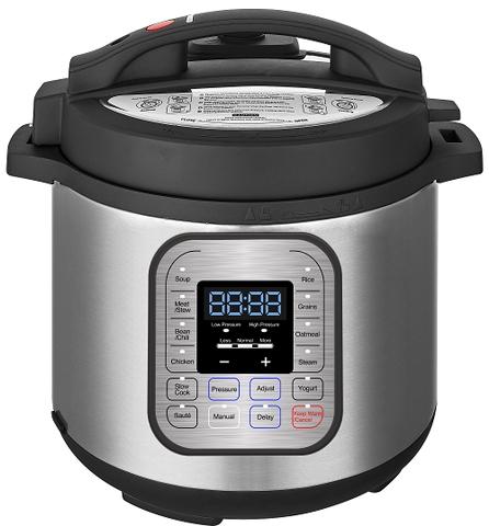 6L(6.3QT)10 in 1 Pressure Cooker,11 presets,1000W,ETL