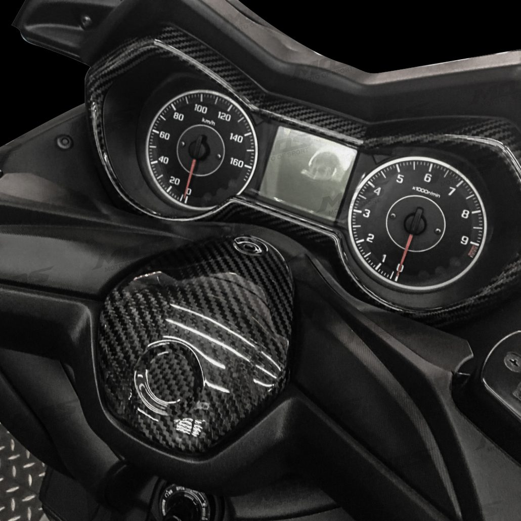 Taiwan Carbon Fiber Motorcycle Speedometer Cover Epoxy Resin Coated 1950 Ford Cluster Wiring Truck Enthusiasts Forums For Yamaha X Max 300 250 Xmax