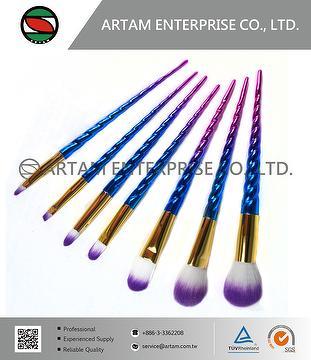 Rainbow Make up brush set