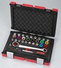 40 PCS Hand Tools kit with color sockets