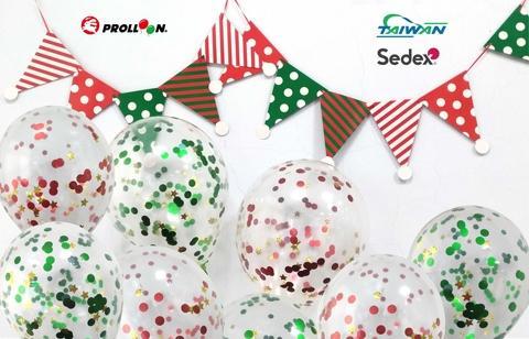 Christmas confetti balloons balloon art and craft