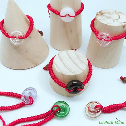 Diffuser Donut Bracelet Lucky Red Cord Braid Chain
