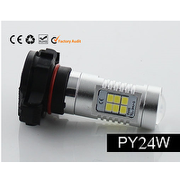 PY24W Fog Light, Car Fog Lamp 3030 SMD 21 LED 21W Bulb 9-30V Auto PY24W 5200s car light bulbs