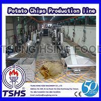 Stainless Steel Large Scale Fried Sweet Cassava Chips Factory Machine