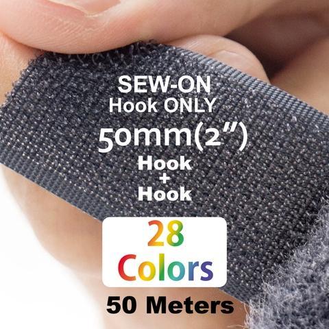 """50mm(2"""") Width 25 Pair Meters Sew-On Hook ONLY"""