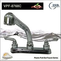 "8"" Pull-Out Kitchen Faucet w/Dual Handles"