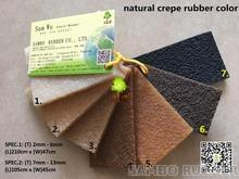 Natural Crepe Rubber Soles