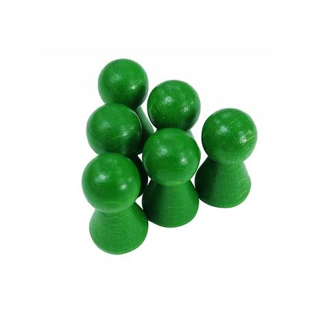15*27mm Green Wooden Pawn