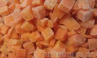 Frozen Carrot Cubes