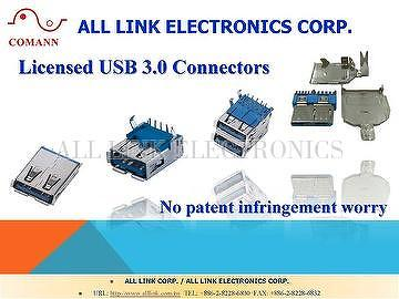 Licensed USB 3.0 CONNECTOR B type