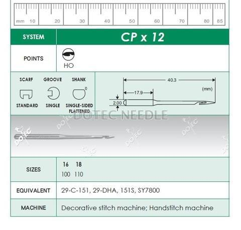 CPX12 - Decorative stitch Machine Needle