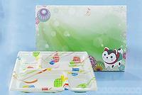 Paper Meal Box-GR-809+Plastic Meal Box-KE-3B