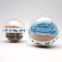Canplow Sandglobe Paperweight 3- inch Round, Wonderful summer time to carry Bucket & Crab, with Beach sand