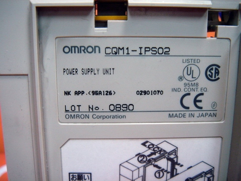OMRON CQM1-IPS02 POWER SUPPLY UNIT