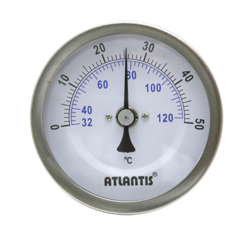 Bi-metal Thermometer (Crimp Bezel, Back Mount Type)