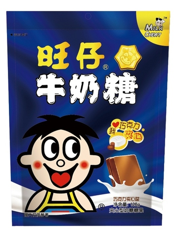 Want Want Milk Chewy Candy (OEM) - Chocolate Filling
