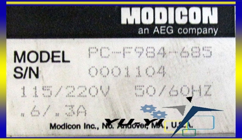 AEG MODICON PROGRAMMABLE CONTROLLER PC-F984-685