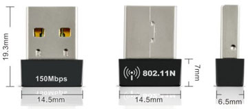 Odin W1 - 150Mbps Wireless USB Mini Adapter