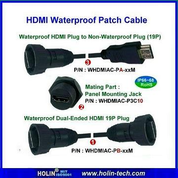 Waterproof HDMI Assembly