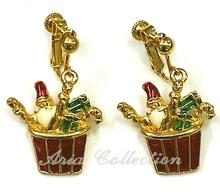 Christmas Gift Basket Earring