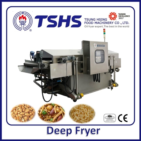 Industrial Continuous Stainless Steel Chicken Deep Fryer Machine