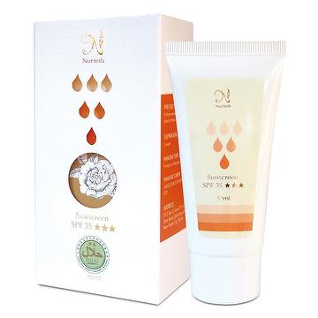 Sunscreen SPF35, skin care products