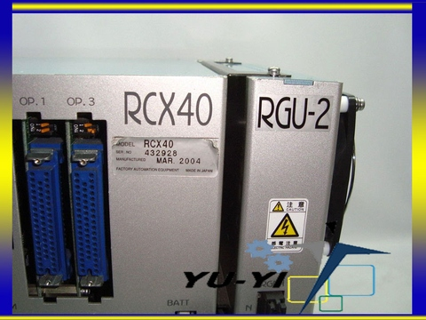 YAMAHA RCX40 4-AXIS ROBOT CONTROLLER WITH RGU-2 REGENERATIVE UNIT