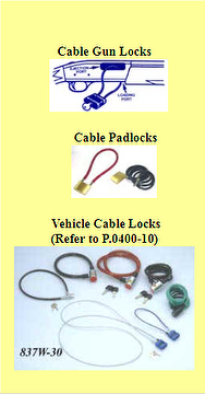 Cable Gun Locks or Padlocks,security protection Padlock,