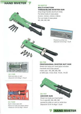 3 X Pistol Grip Hand Drill 8 mm