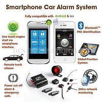 Smartphone car alarm system