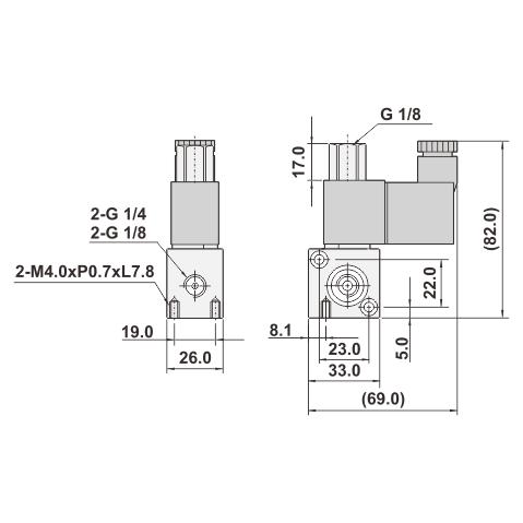 3 2 Way Direct Solenoid Valve 1 4 3 8 Aluminum Alloy Taiwantrade Com
