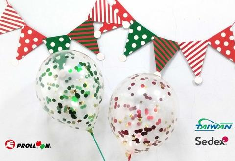 Christmas confetti balloons
