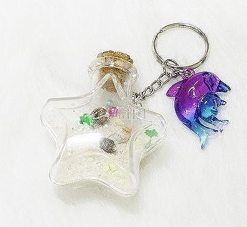 Dolphin Star-shaped Sand Seashell bottle