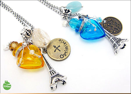 Diffuser Zodiac Necklace Art Glass Aroma Vial