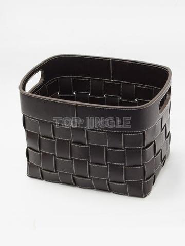 Portable Brown Magazine Basket