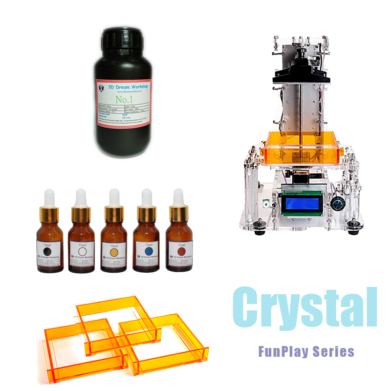 Crystal,FunPlay Series DIY SLA 3D Printer,3D Dream Workshop