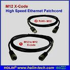 M12 X-Coded to RJ45 Patch Cable,/Cord for Industrial Ethernet Connectivity