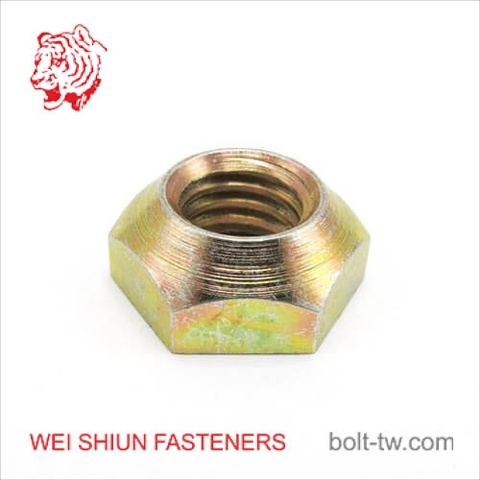 CNC machined parts yellow zinc coated taper fitting nut