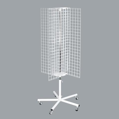 4 way wire grid panel accessories display stand