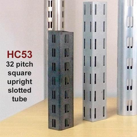 Taiwan 32 pitch metal square upright double slotted tube