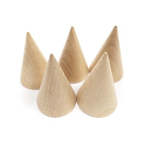 50*75mm Plain Wood Cone Set
