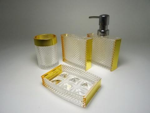 Diamond Solid Bathroom Set Metallic decal on sides
