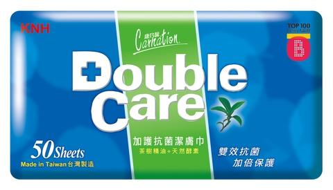 Double Care Wipes 50 Sheets