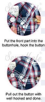 Shirt collar buttoner,craft