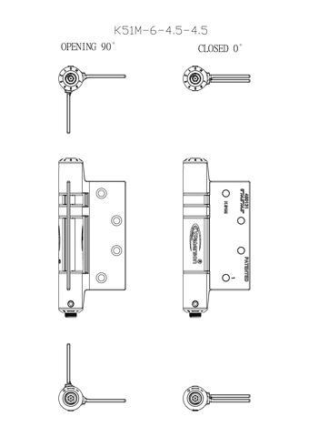 Door Closer Hinge - Full Mortise -6*6*4 US AREA
